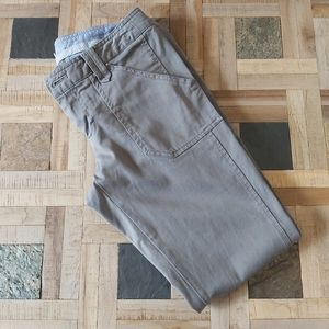 Banana Republic Cropped Olive Grey Utility Chino